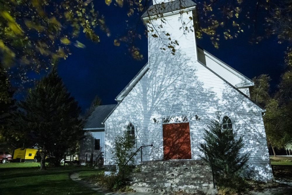 A former Lutheran church is shown in the community of Murdock, Min., on Dec. 9, 2020.