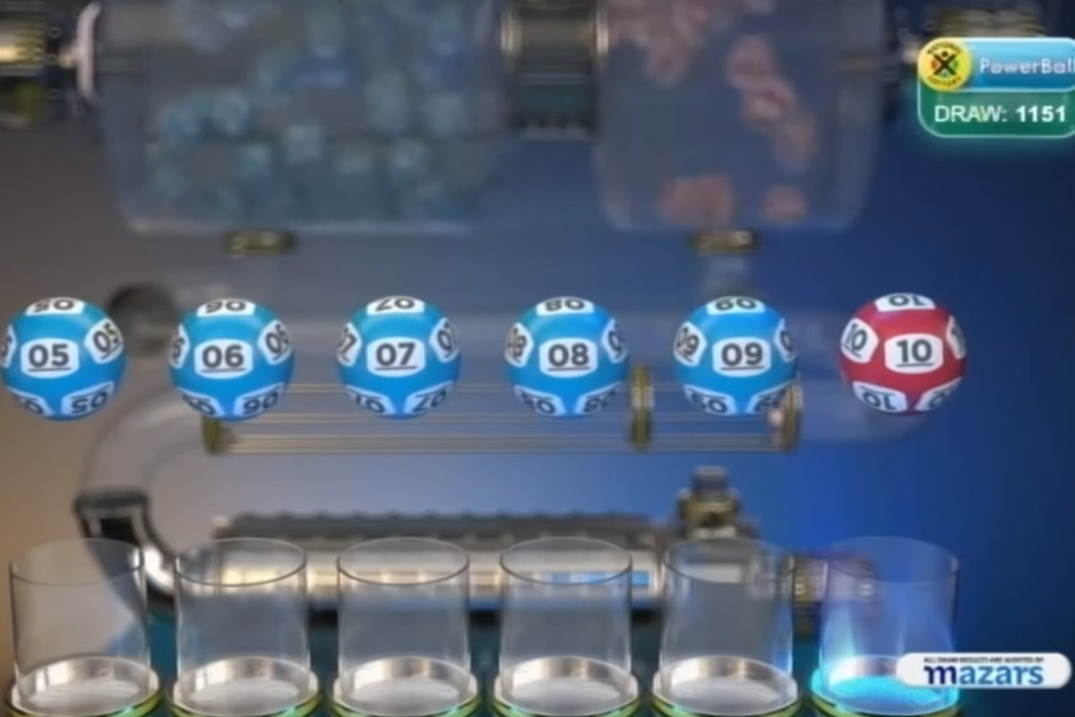 This image from video shows the result of a lottery draw in South Africa on Dec. 1, 2020.