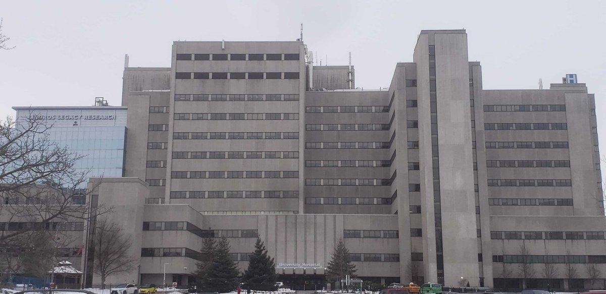 University Hospital in London Ont. Dec. 3, 2020