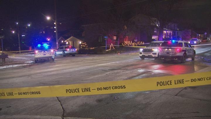 A photo of the shooting scene on Scott Street in Brampton.