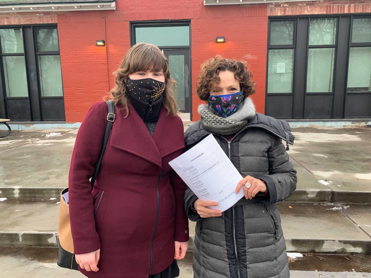 Côte-des-Neiges--Notre-Dame-de-Grâce Mayor Sue Montgomery (right) and chief of staff Anna Lisa Harris (left) are pleased with a decision from a Quebec Superior Court Judge that will allow Harris to resume communicating with borough employees. Friday, Dec. 11, 2020.