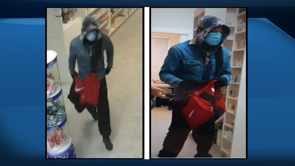 A suspect in one of 21 pharmacy robberies across Calgary, in an undated photo from the Calgary Police Service.