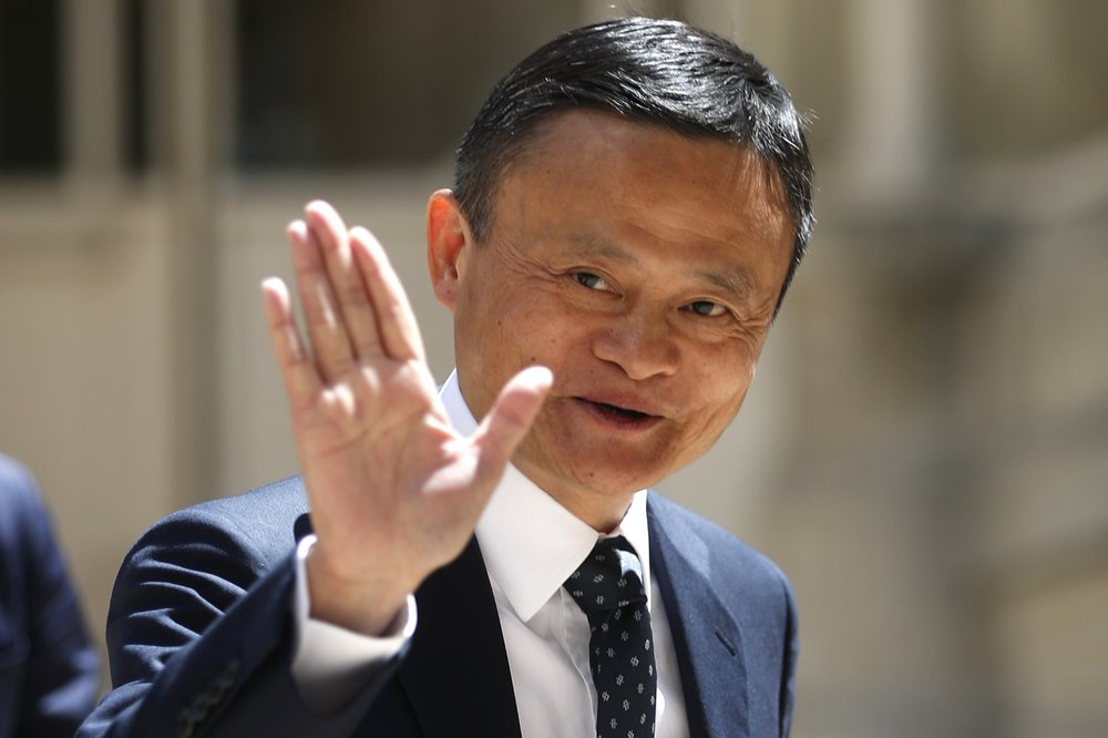In this May 15, 2019, file photo, founder of Alibaba group Jack Ma arrives for the Tech for Good summit in Paris. Ma hasn't been seen in public since he angered regulators with an October 2020 speech. That is prompting speculation about what might happen to the billionaire founder of the world's biggest e-commerce company.