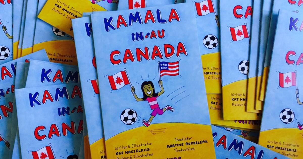 Kaj Hasselriis' book, Kamala in Canada, ended up in a swag bag at the US embassy in Ottawa.