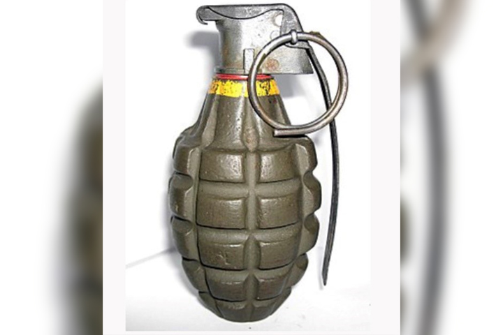 An MK2 grenade is shown in this handout photo.