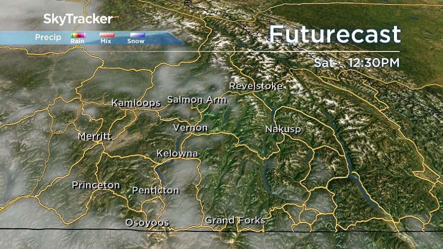 After a sunny start to the day on Saturday, another wave of clouds rolls in during the afternoon.