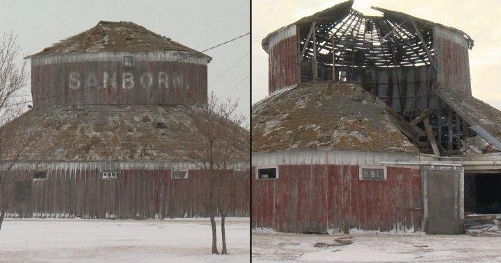 Saskatchewan winter storm brings down iconic, 113-year-old round barn