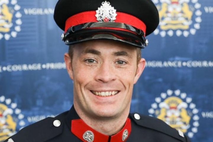 Sgt. Andrew Harnett, 37, was killed while conducting a traffic stop  in Calgary on Dec. 31, 2020.