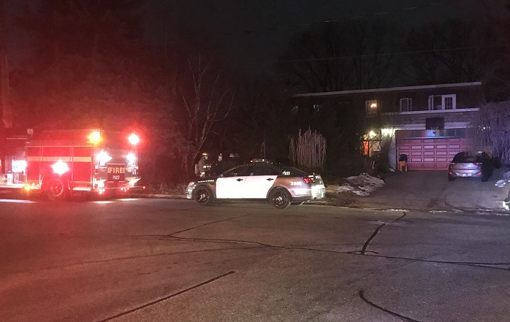 Emergency crews were called to the Suncrest Drive home at around 8:50 p.m. on Monday.