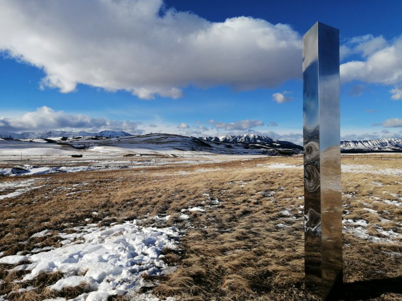 A monolith in Alberta is shown.