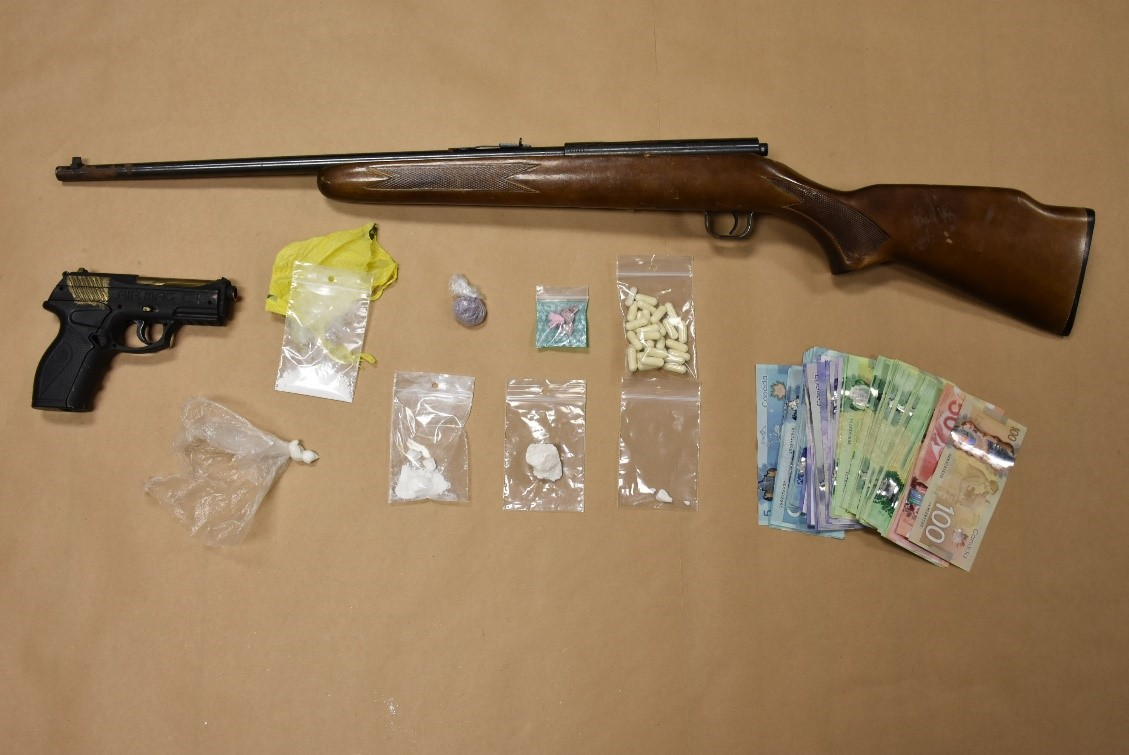 Cobourg police seized drugs and firearms following the search of a residence.