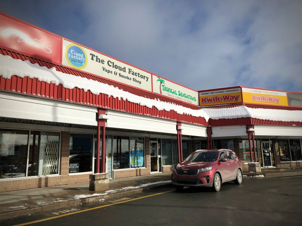 William MacEachern, co-owner of the Cloud Factory Vape Shop in Dartmouth, N.S., pictured here on Jan. 25, 2021, is challenging the constitutionality of Nova Scotia's newest restrictions on vaping.