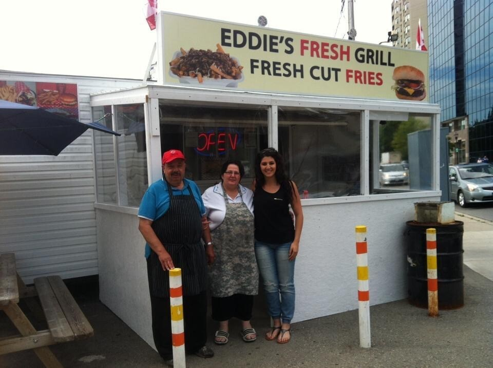 Eddies Fresh Grill at the corner of  Queen Avenue and Talbot Street.