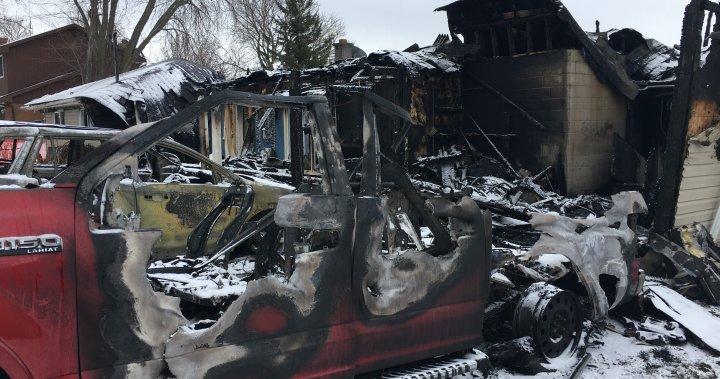 Two escape blaze as fire destroys house, vehicles in Bridgenorth