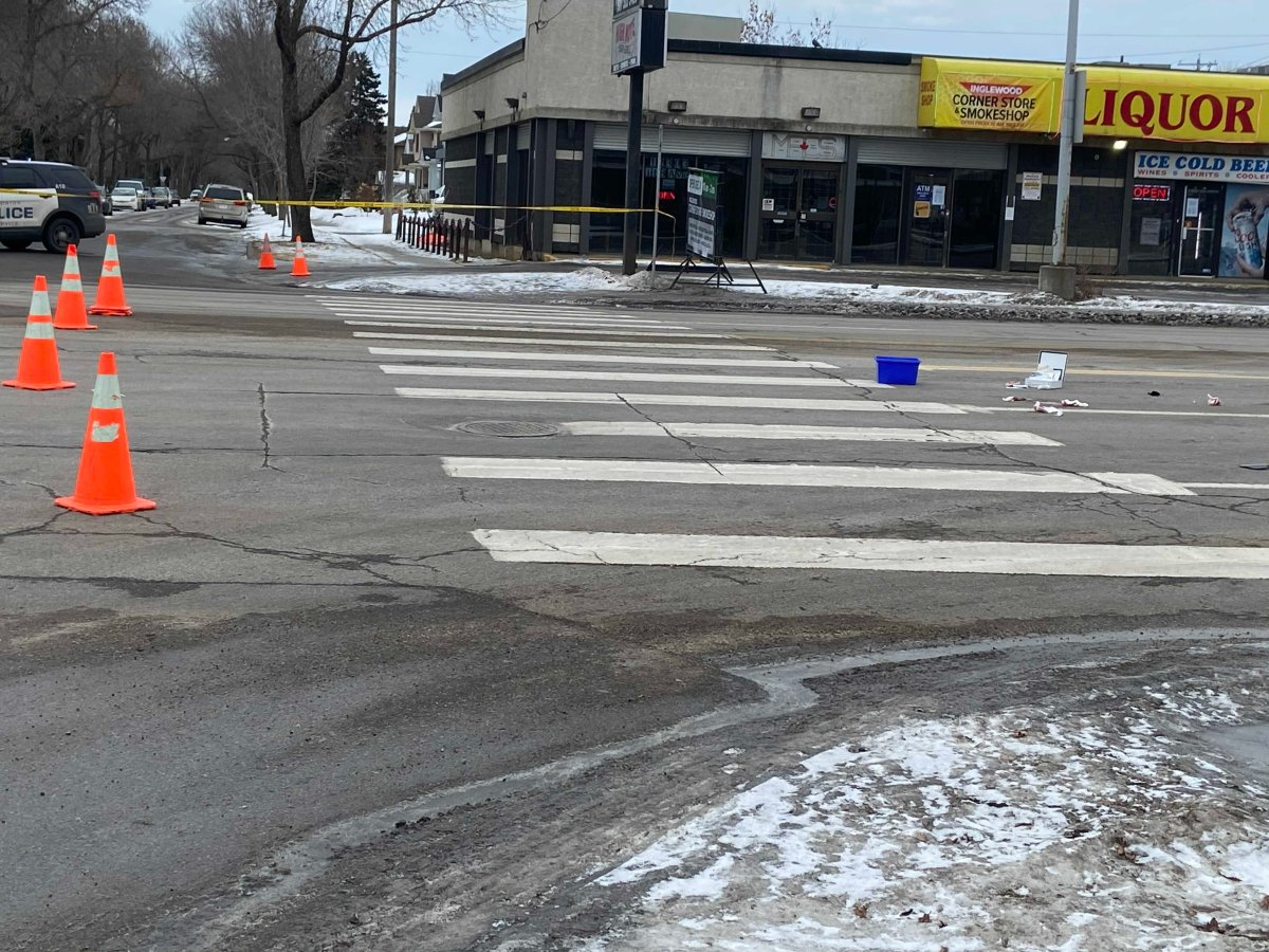 Edmonton police are investigating after a pedestrian was struck by a van while crossing the street in northwest Edmonton.