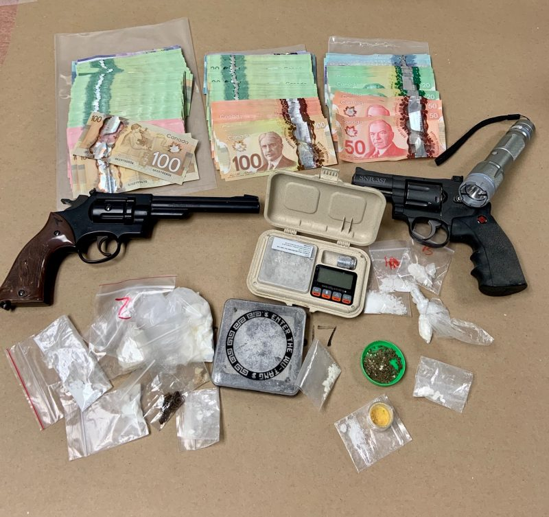Drug and child endangerment charges were laid against two people in Lethbridge after the search of a home on Jan. 20, 2021.