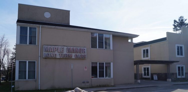 Of Maple Manor Nursing Home's 92 residents, 55 have been infected and four infected individuals have died.