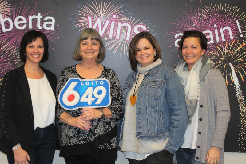 Shelly Myers is sharing her $1M win win with her daughters Stephanie Myers, Suzanne Markie and Kari Johnston.