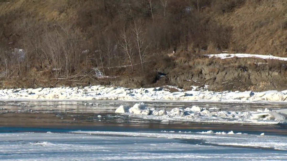 The North Saskatchewan River in Edmonton, Alta. on Thursday, January 14, 2021.
