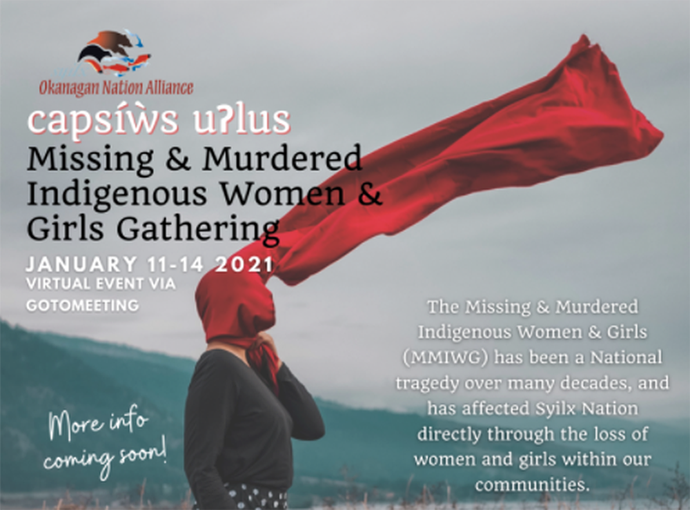 The Okanagan Nation Alliance's virtual gathering will take place Jan. 11 to 14, and features speakers, including the first female First Nations judge in B.C.