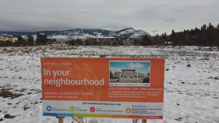 Site of the proposed Kelowna Costco development proposal.