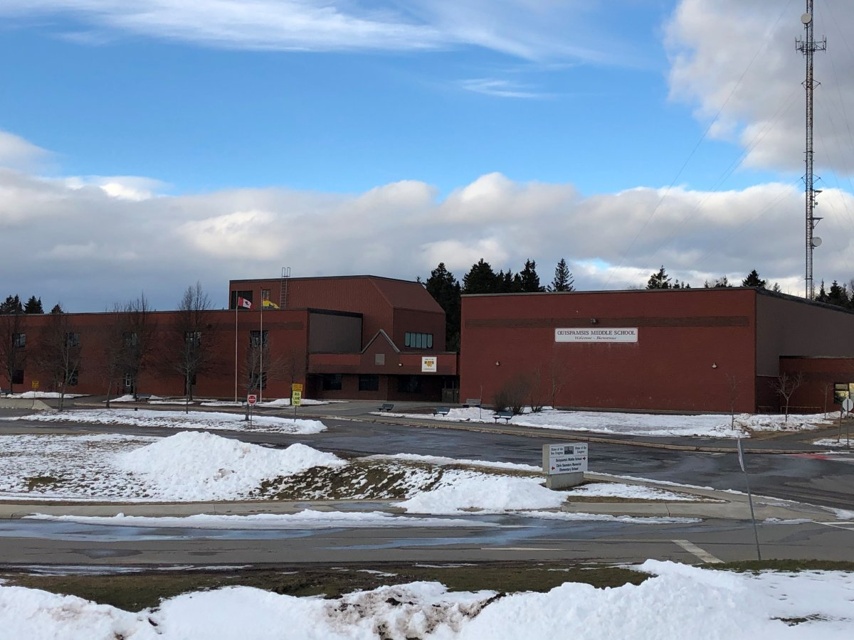 Quispamsis Middle School reported a case of COVID-19 on Jan. 18, 2021.