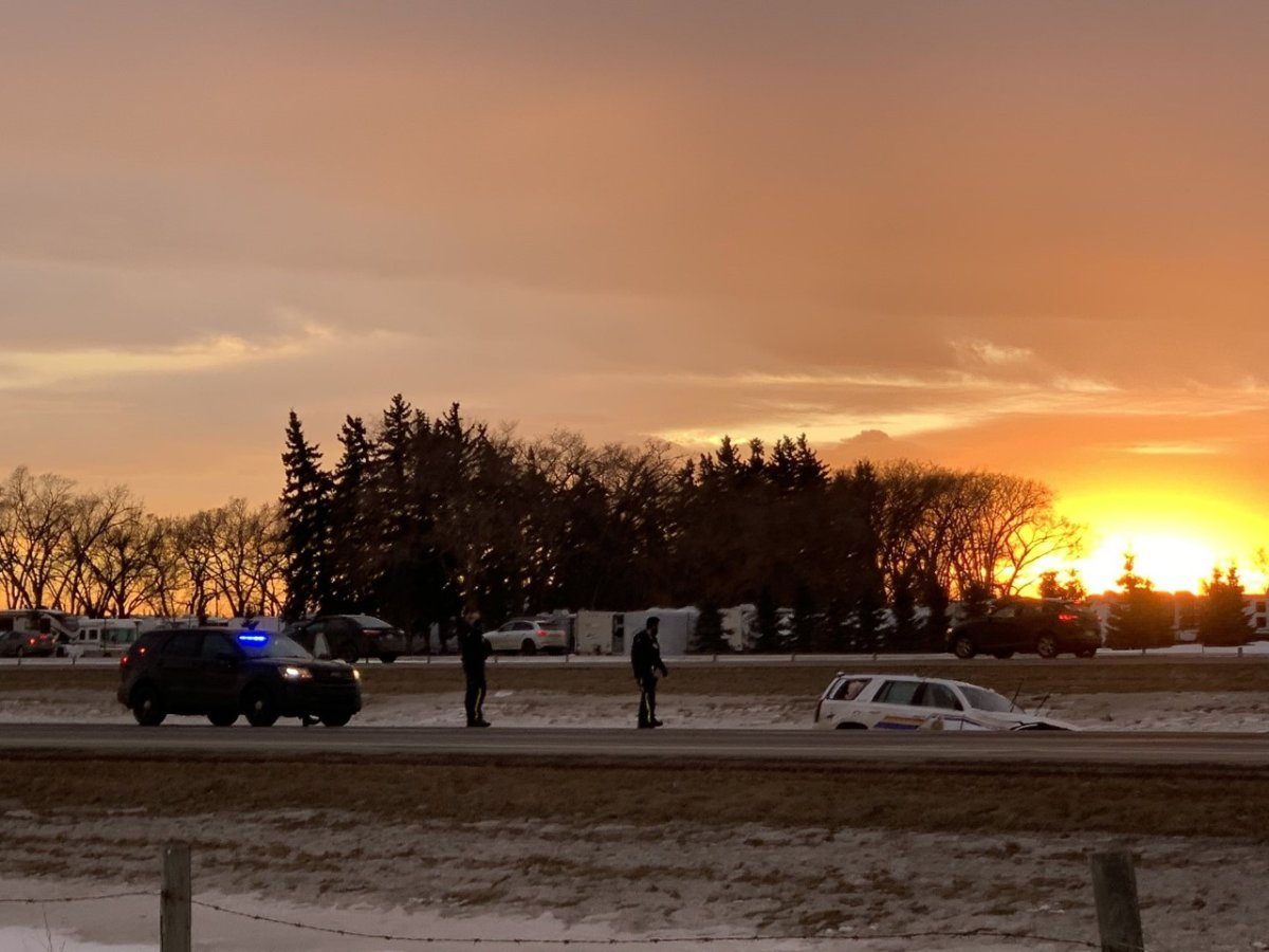 An RCMP officer was taken to hospital following an incident that involved a police pursuit near Vermilion, Alta.