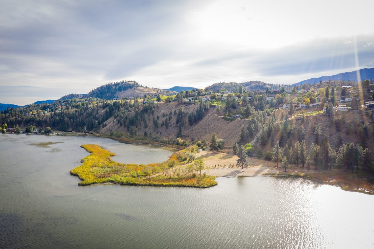 A view of Sickle Point on Skaha Lake, near the community of Kaleden in the South Okanagan.