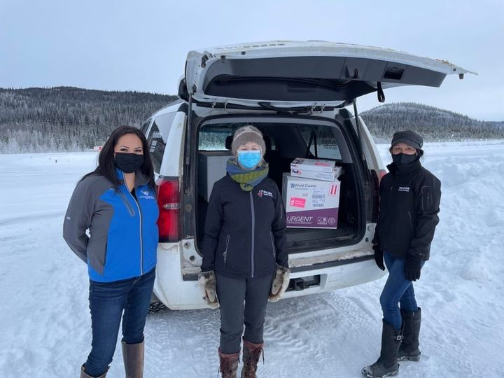 The Tahltan Central Government said on Facebook that  COVID-19 Moderna vaccines from the First Nations Health Authority (FNHA) arrived in Tahltan Territory on Dec. 29, 2020.