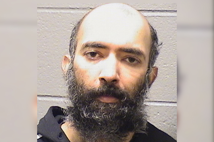 Aditya Singh, 36, is shown in this mugshot photo from the Cook County Jail on Jan. 17, 2021.