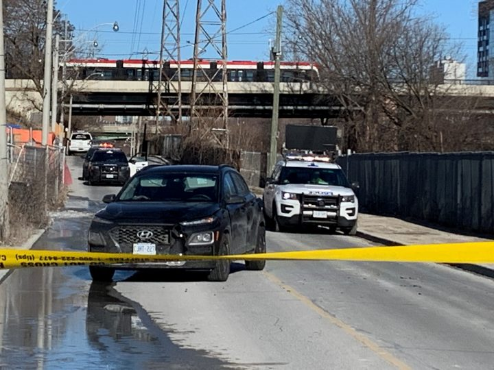 The scene of the collision in Toronto on Saturday.