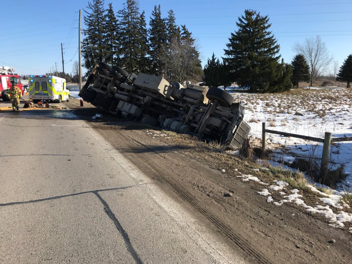The London Fire Department said one person needed to be extricated from the vehicle.