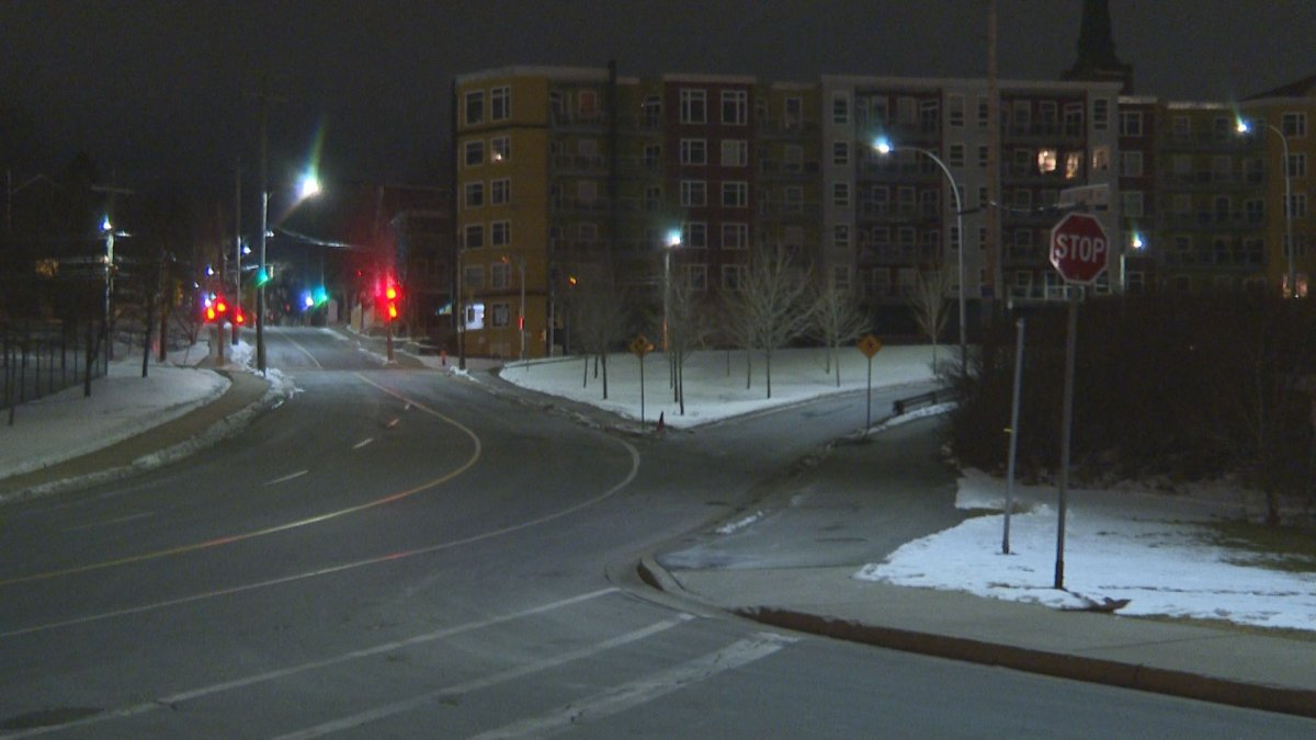 Halifax Regional Police say the crash happened early Friday morning, around 1 a.m., at the intersection of Upper Water Street and Valour Way in downtown Halifax.