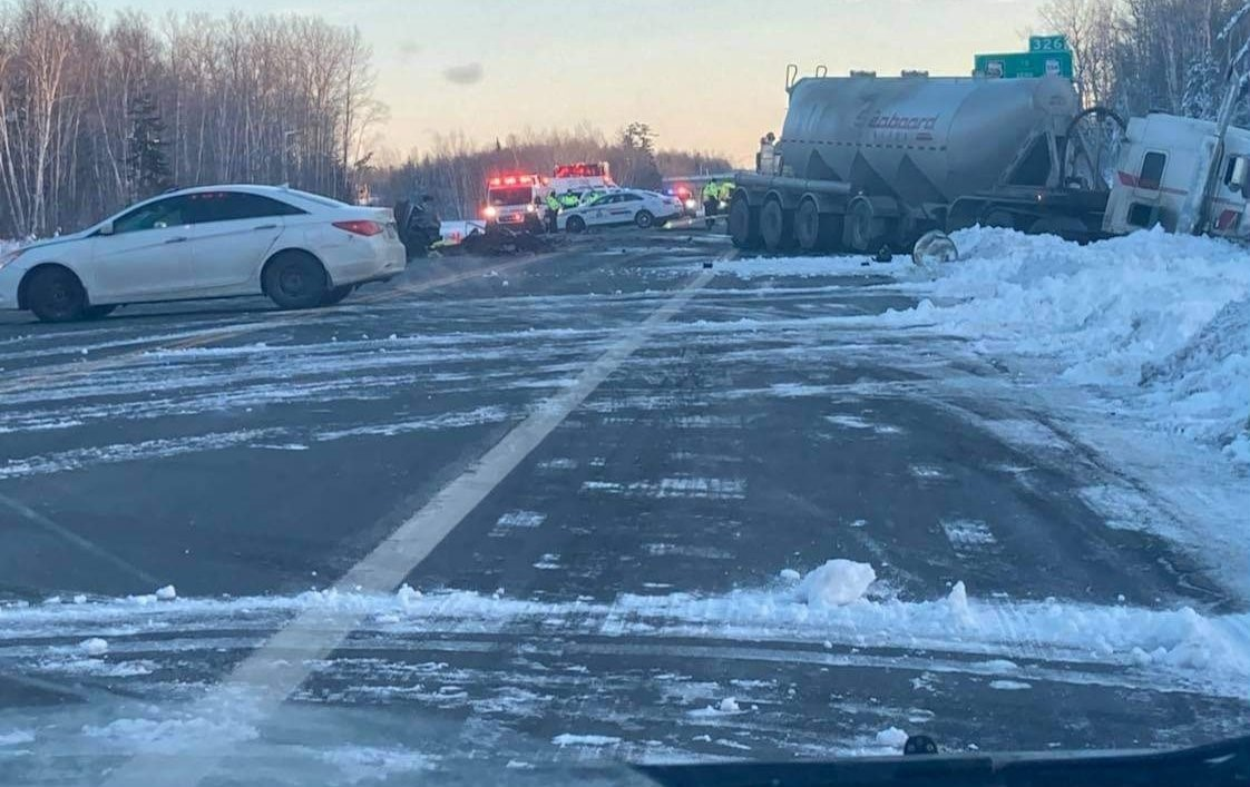 Members responded to a report of a head-on collision involving a car and a tractor-trailer on Highway 11, just north of Exit 326.