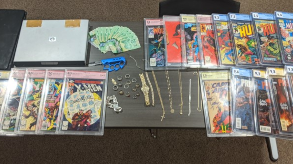 Niagara police arrested a man in Grimsby on Jan. 14 who was trying to sell a set of collectable comic books stolen from a Niagara Falls home.