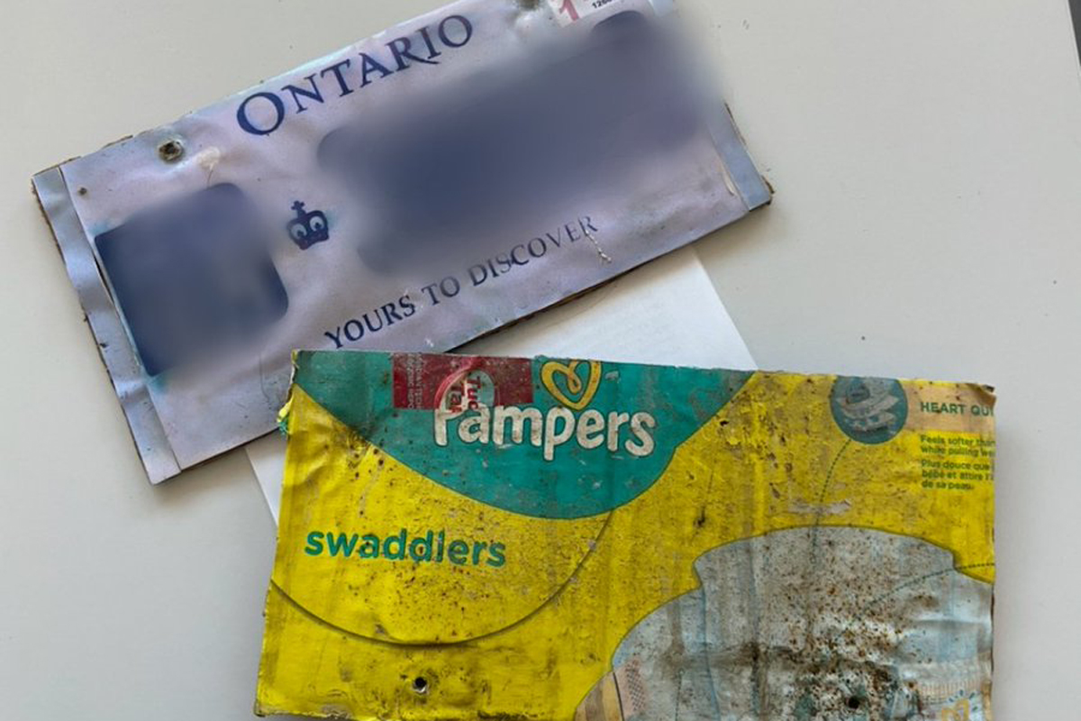 Brant County OPP say they found these license plates on a car in Paris.