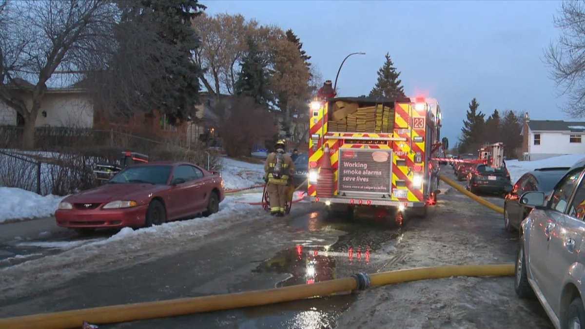 Calgary crews responded to a house fire in Dover on Sunday, Jan. 17, 2021.