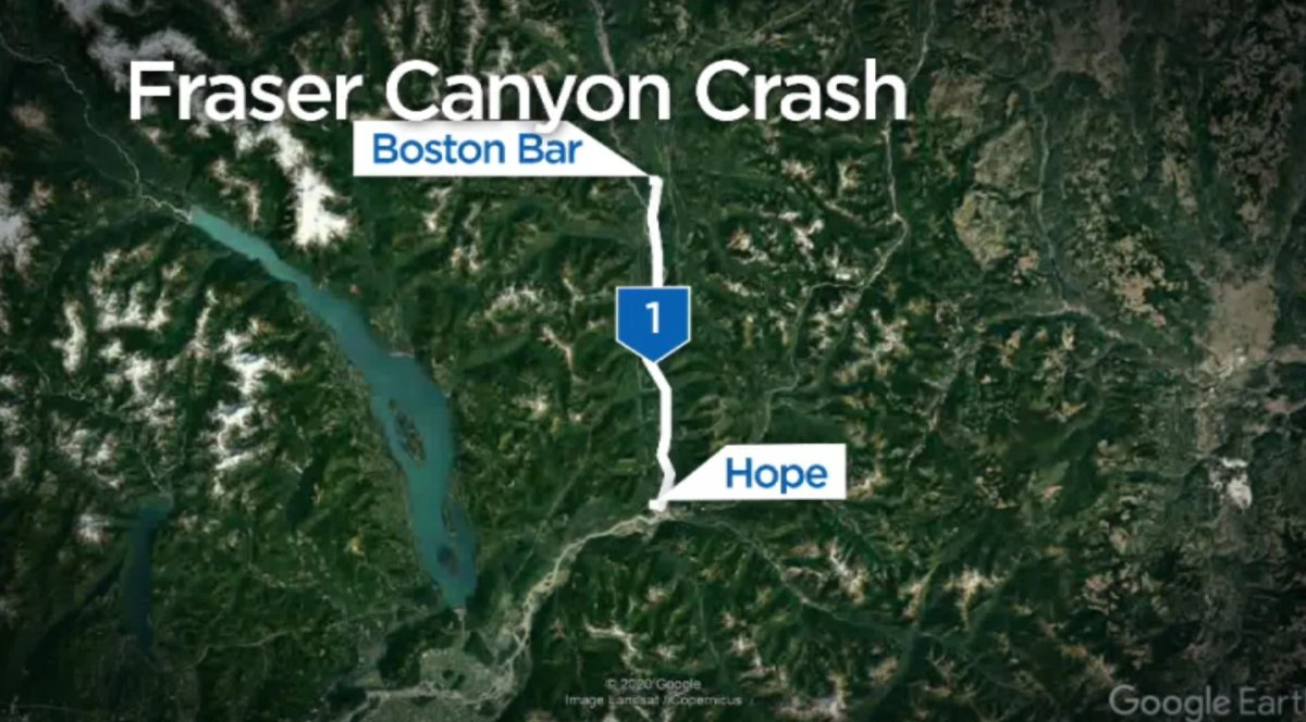 Highway 1 re-opened between Hope and Boston Bar after trucks collide Friday - image