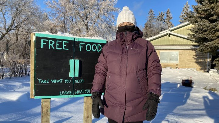 Joanne Dudiak started the Free Food donation box two years ago after hearing about the need in her neighbourhood.