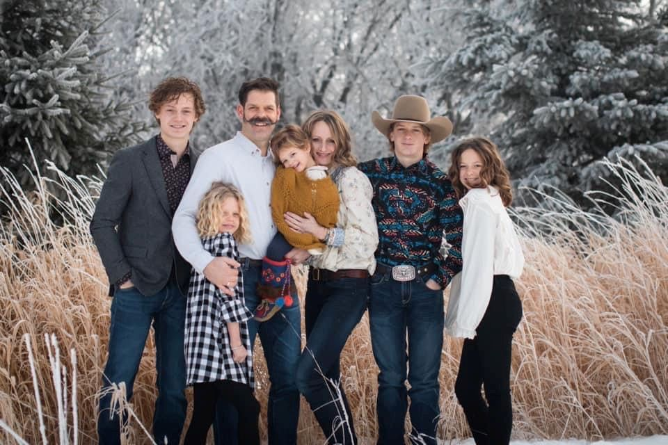 Members of the Balisky family Chevey, left to right, Jewel, Wade, Fleur, Aubrey, Remington, Indya are shown in this handout image. Four people who died in a helicopter crash on New Year's Day are being identified by loved ones as members of a strong and loving farm family from a small community in northern Alberta. The families of Wade Balisky, 45, and Aubrey Balisky, 37, say in a joint statement that they are grappling with the loss of the couple and two of their children, Jewel, 8, and Fleur, 2.THE CANADIAN PRESS/HO.