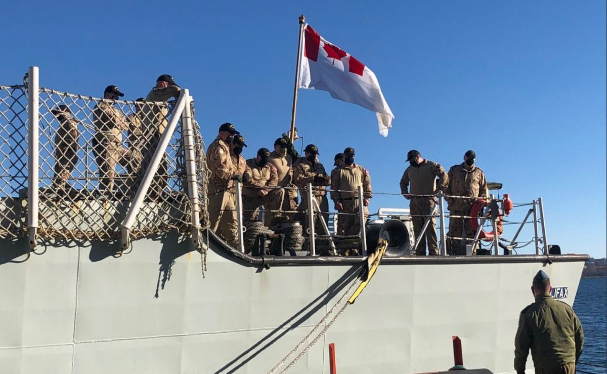 HMCS Halifax with 252 crew members on board set sail in January for a a six-month deployment in NATO's Operation Reassurance..