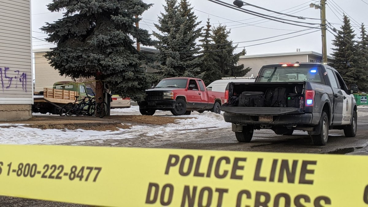 Police said a vehicle was shot at in Calgary on Sunday, Jan. 31, 2021.
