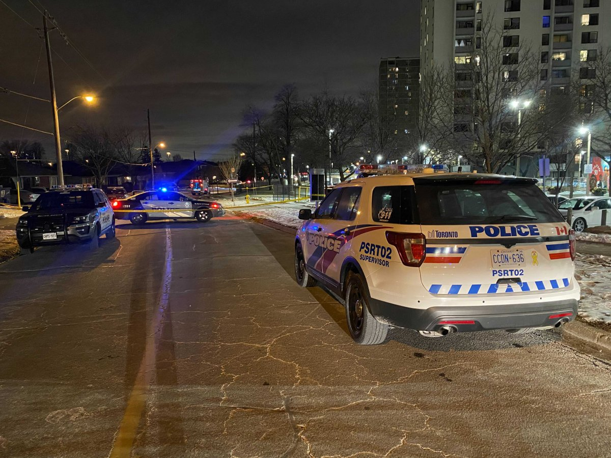 Scene from a fatal shooting in Toronto's north end.