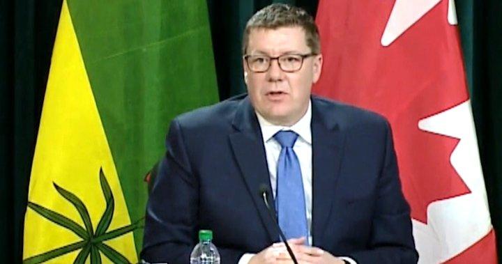Saskatchewan Premier Scott Moe won't say how long deficits will last