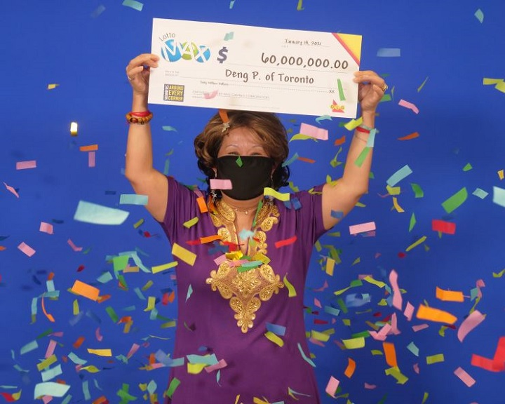 Toronto woman wins $60M lottery jackpot based on numbers 'dreamed' by  husband - Toronto | Globalnews.ca