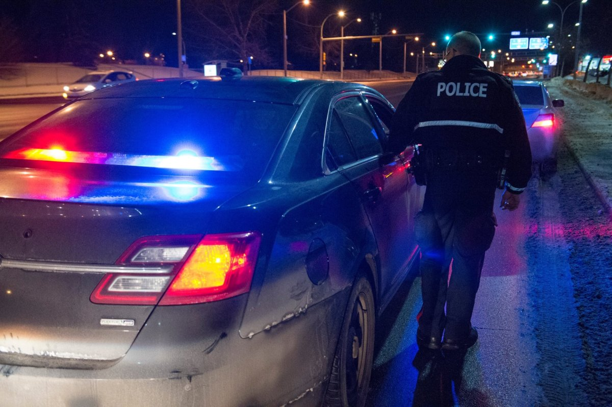 A 34-year-old man has been charged after two Edmonton police officers were injured when a suspect vehicle fled police Tuesday, Jan. 5, 2020.
