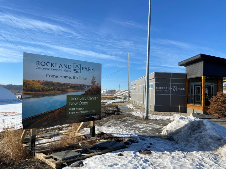 Sales centre for the new community of Rockland Park which is now under construction in northwest Calgary.