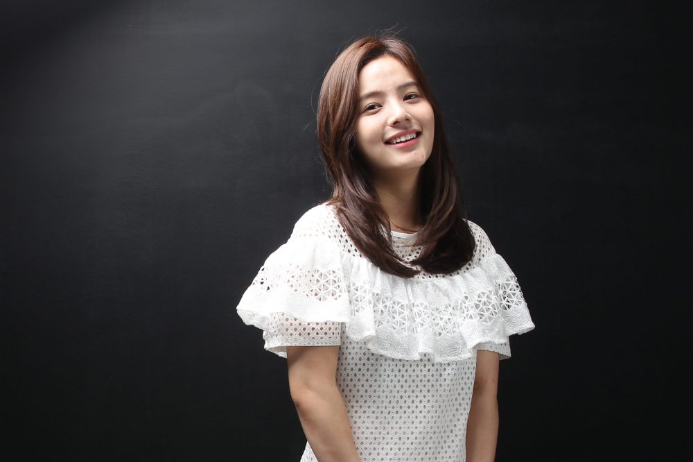 Song Yoo-jung poses for photographs on July 24, 2014 in Seoul, South Korea.