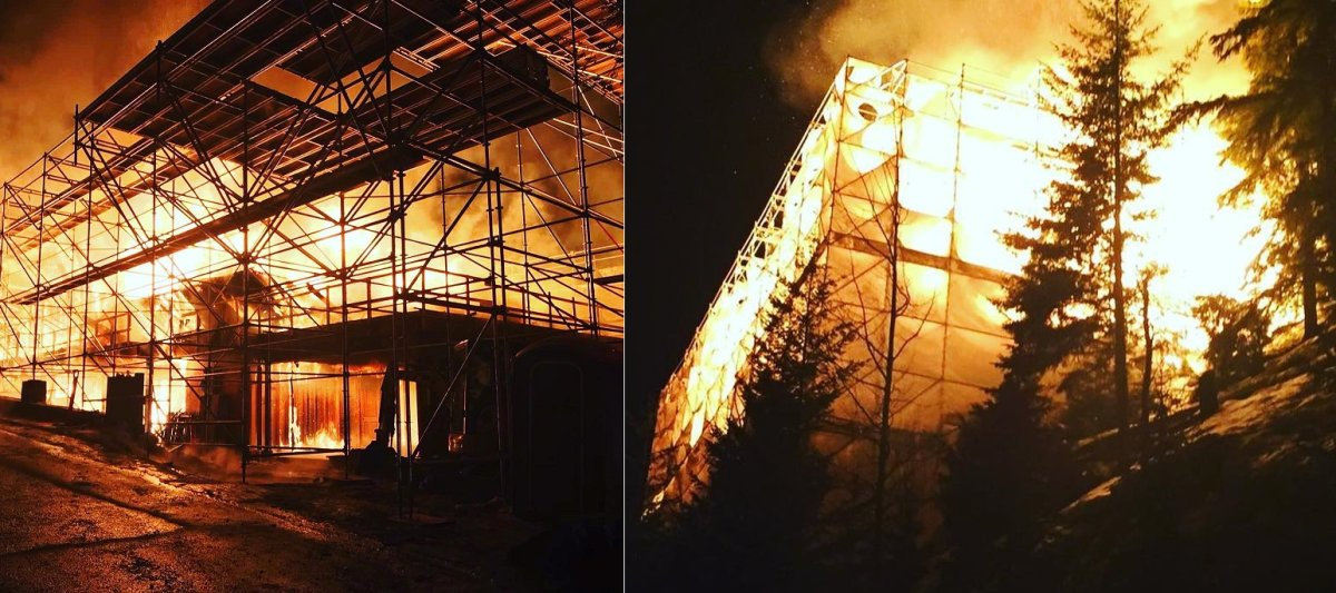 Photos posted by the Whistler firefighters' union appear to show that the fire occurred at a construction site.