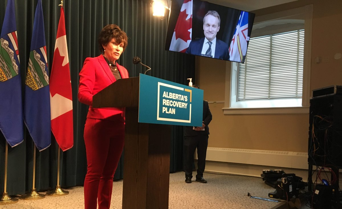 Minister of Energy Sonya Savage and federal Minister of Natural Resources Seamus O'Regan announce new funding available through the Site Rehabilitation Program. Friday, Feb. 12, 2021.